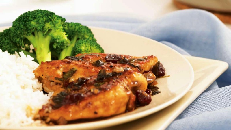 Maple-Cranberry Chicken